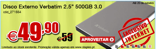Hdd 500Gb externo