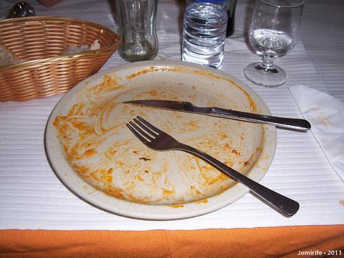 Restaurante - Francesinha em Sintra (prato limpo)