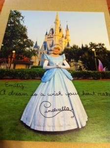 Foto da Disney World autografada