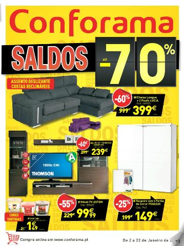 Folheto cat logo conforama novidades campanhas 2 de - Nuevo catalogo de conforama ...