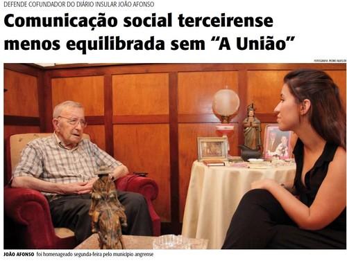 João Afonso, em entrevista ao DI, jornal que também fundou...