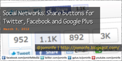Blog: Social Networks - Share buttons
