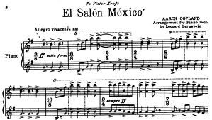 Pegada for Aaron copland el salon mexico