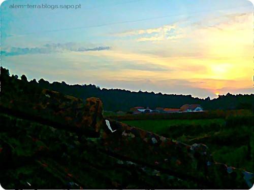 pôr-do-sol, São Martinho da Gandara, 3 de oitembro de 2011