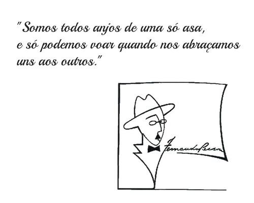Frases De Fernando Pessoa No Facebook Somos Todos Anjos De Uma Só