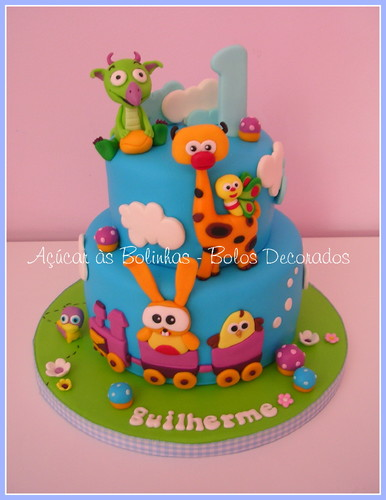 Bolos Cake Design Lisboa : Bolo Babytv - Ac?car as Bolinhas - Cake Design, Workshops ...