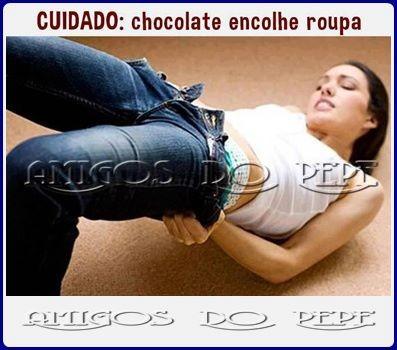 O chocolate encolhe a roupa