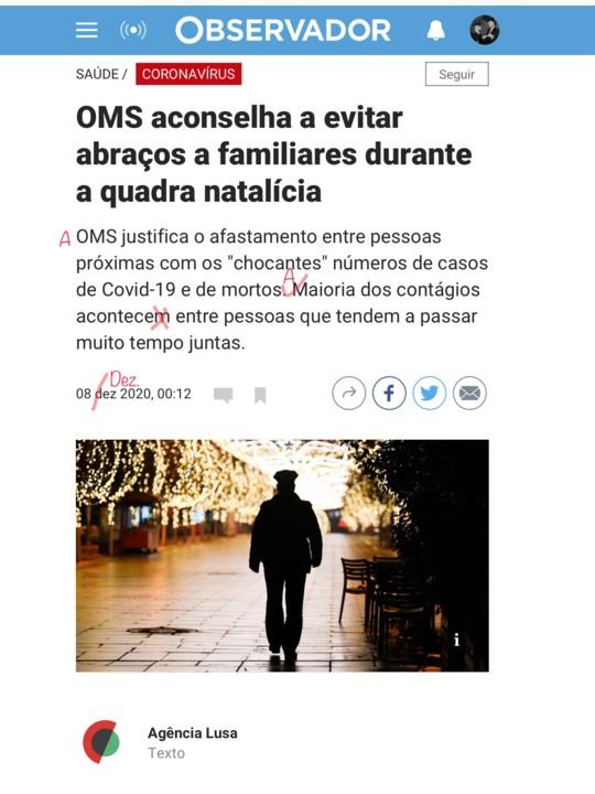 Observidor/brasiLusa, dia de Nossa Senhora da Conceição de 2020