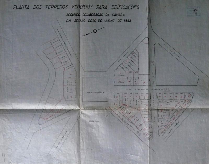 Fig. 22. Planta do Bairro de Santa Cruz. [AHMC. Di