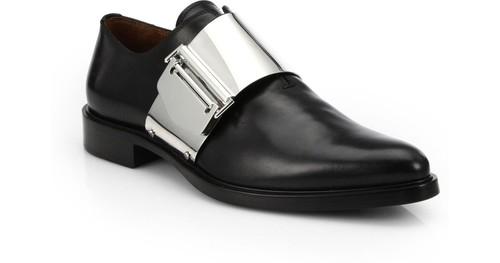 givenchy-black-richelieu-metal-buckle-leather-shoe