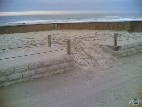 Temporal na praia do Cabedelo - Acesso rampa