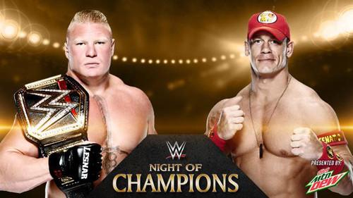 WWE Night of Champions 2014 Lesnar vs Cena