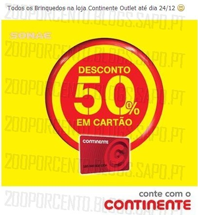 Promoções | FREEPORT | 50% em brinquedos Outlet Continente