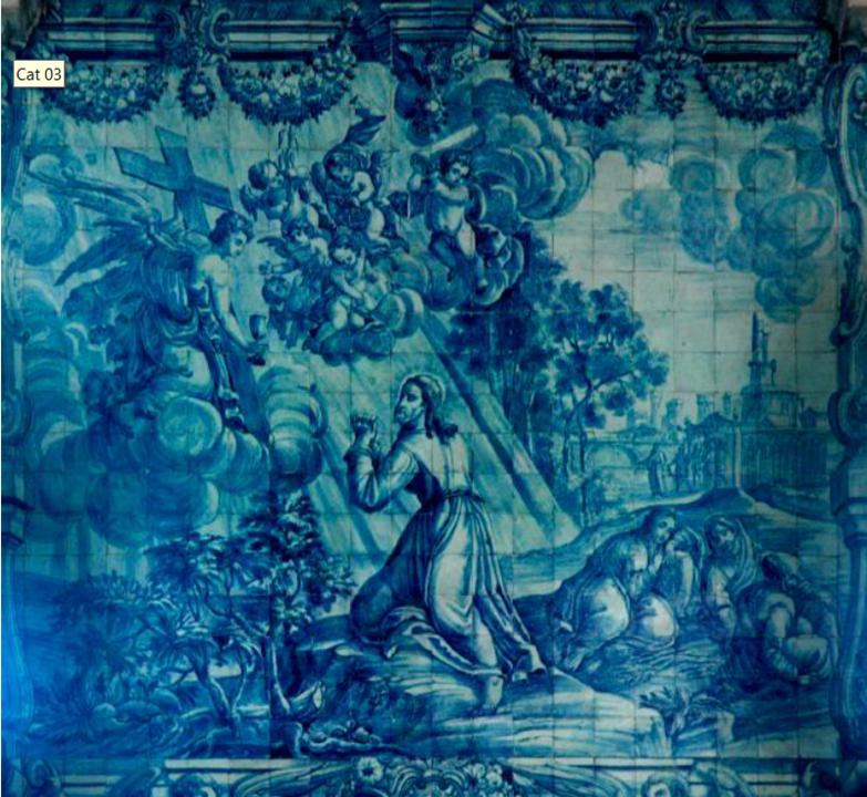 Painel de azulejos, A agonia no Monte das Oliveira