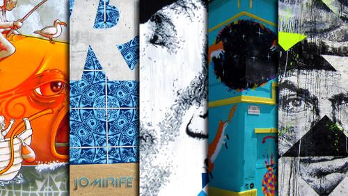 Arte Urbana FUSING/WOOL na Figueira da Foz, Portugal (Mário Belém, Add Fuel, Eime, Kruella d'Enfer, Samina) (16:9)