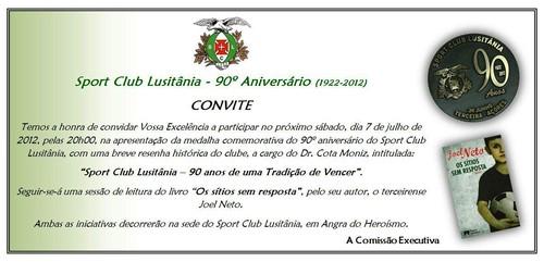 O convite para a sessão de amanhã...