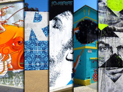 Arte Urbana FUSING/WOOL na Figueira da Foz, Portugal (Mário Belém, Add Fuel, Eime, Kruella d'Enfer, Samina) (4:3)