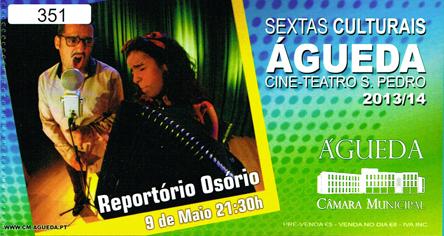 Sextas Culturais apresentam REPORTÓRIO OSÓRIO a 9 de Maio!
