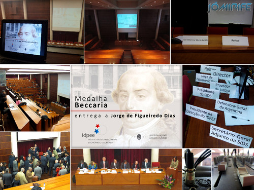 Realização Audiovisual da Conferência Medalha Beccaria entregue a Jorge Figueiredo Dias