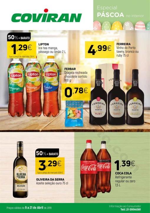 Antevisão Folheto COVIRAN Páscoa Promoções de