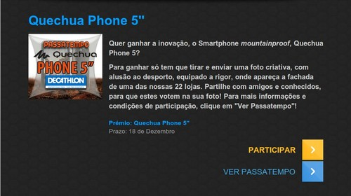 Passatempo ganha o novo smartphone   DECATHLON   Quechua 5