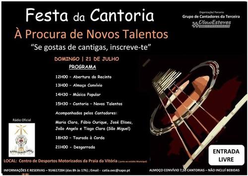 Festa da Cantoria, no próximo domingo...