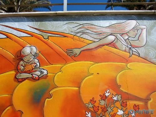 Arte Urbana by Mário Belém - Peixe laranja/Imaginário no CAE na Figueira da Foz Portugal - Elemento Mulher e menina (17) [en] Urban art by Mário Belém - Orange Fish/Imaginary in Art Center Figueira da Foz, Portugal