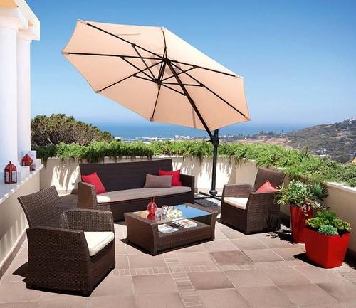 mesa jardim carrefour: sofá de canto para 6 pessoas e mesa de centro. Tudo da Casa Viva