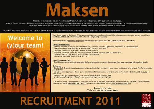 Maksen – Recrutamento Angola 2011