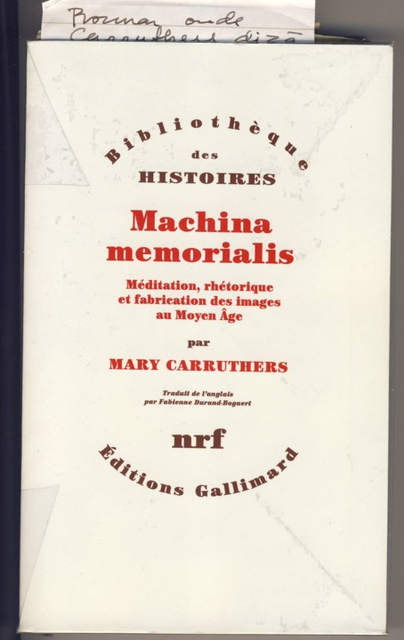 Mary Carruthers, Machina Memorialis