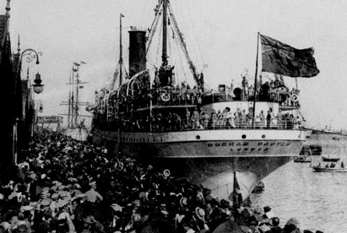Embarque de tropas portuguesas para a Primeira Gue