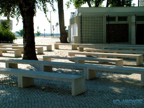 Jardim Municipal da Figueira da Foz (6) Bancos de pedra [EN] Municipal Garden of Figueira da Foz - Stone bench