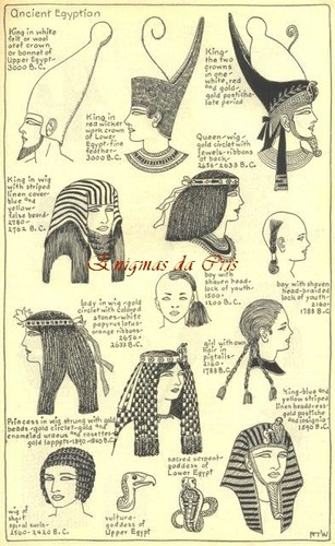 Illustrations of the different hat styles of the A