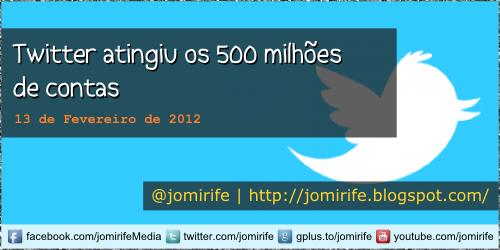 Blog: Twitter com 500 milhões de utilizadores