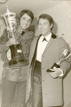 Nelson Camacho e Gabriel Cardoso em 1970 Rei da Rádio