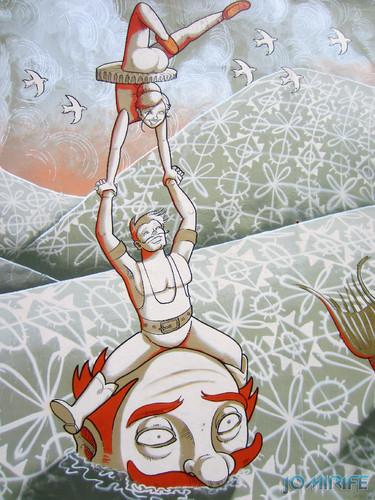 Arte Urbana by Mário Belém - Peixe laranja/Imaginário no CAE na Figueira da Foz Portugal - Elemento trapezistas (25) [en] Urban art by Mário Belém - Orange Fish/Imaginary in Art Center Figueira da Foz, Portugal