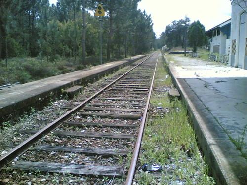 Estação de Comboios, Santana-Ferreira: Linha