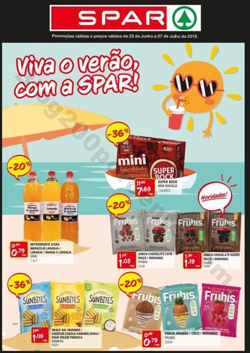 Antevisão Folheto SPAR Promoções de 25 junho a