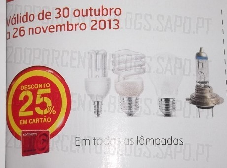 100% de desconto | CONTINENTE | Lâmpadas Philips Genie até 31 Outubro