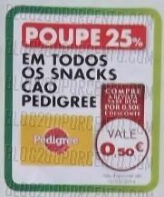 Acumulação 25% + Vale   PINGO DOCE   Snacks p/ animais de 7 a 13 janeiro