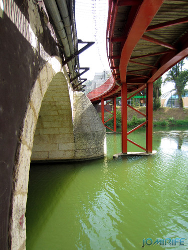Jardim do Polis Leiria (Oeste) - Ponte vermelha (4) [en] Polis Garden of Leiria, Portugal