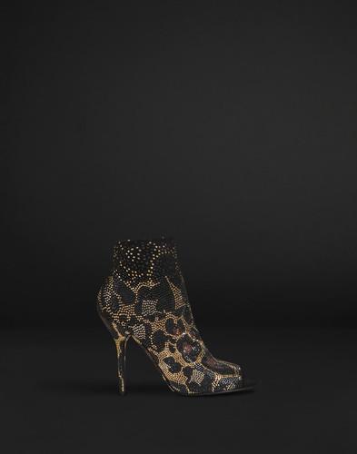 Botas Carine Dolce Gabbana cristais leopardo