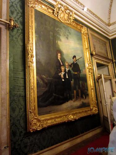 Lisboa - Palácio Nacional da Ajuda - Sala Verde (3) Quadro enorme [en] Lisbon - Ajuda National Palace - Green Room - Big painting