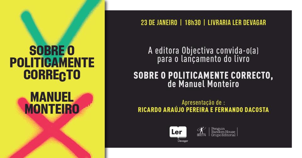 Convite lançamento Sobre o Politicamente Correcto