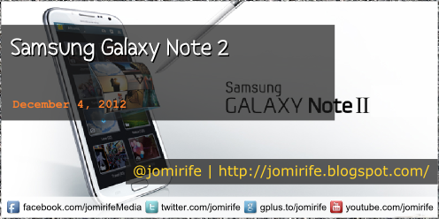 Blog Post: Samsung Galaxy Note 2 (tech specs)