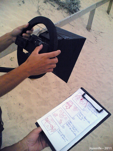 In production Mars Vs Earth Máquina e storyboard
