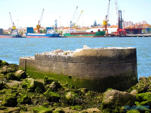 Antiga ponte da Figueira da Foz - Navios no porto