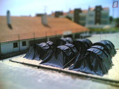 Efeito Miniatura: Tendas dos Geoscouts da Fontela