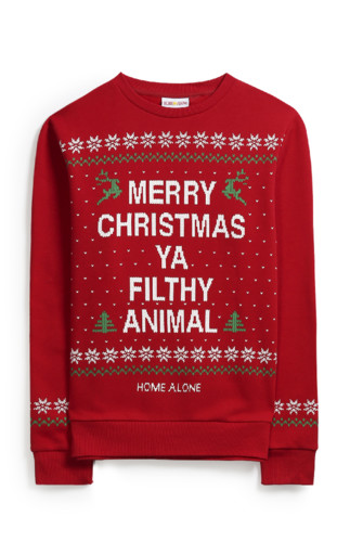 KIMBALL-75591MISSING-FILTHY ANIMAL XMAS JUMPER RED