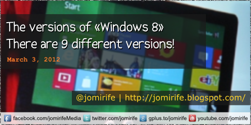 Blog: Windows 8 versions